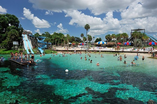 Weeki Wachee, Spring, Water park, Weeki Wachee Springs, State Park, water, Florida, USA, United States, America, visitors, tourists : Stock Photo