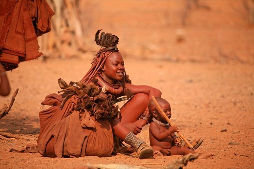 Namibia, Africa, Himba tribe, Summer 2007, Africa, local people, traditional, tradition, jewellery, jewelry, native, n : Stock Photo