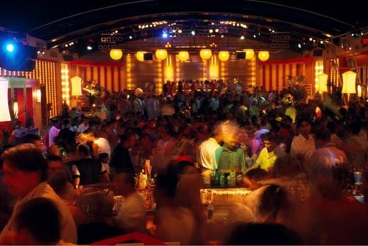 Greece, Europe, Mediterranean sea, Disco PR_Club Privilege, Chalchidiki peninsula, Chalkidiki, Disco, discotheque, Eur : Stock Photo