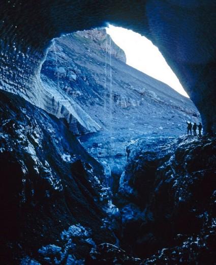 Bernese Oberland, sombre, gloomy, ice, erosion, rock, cliff, grimly, Gamchigletscher, glacier, mouth of glacier, gro : Stock Photo