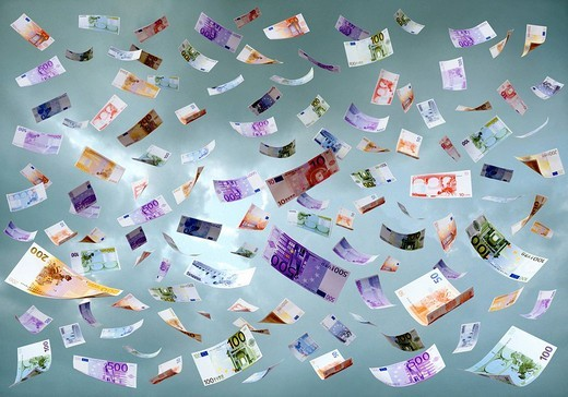 Bank Notes, Economy, Heaven, Money, Symb : Stock Photo