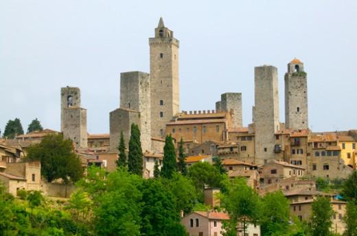 Stock Photo: 1598R-10000628 San Gimignano.