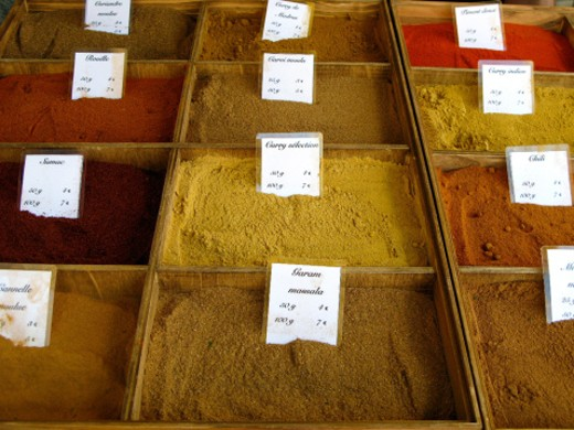 Stock Photo: 1598R-10001355 Handmade spices in farmer's market