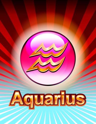 Stock Photo: 1598R-10001995 Aquarius zodiac