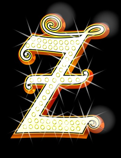Bling alphabet Z : Stock Photo
