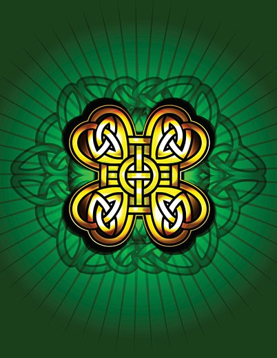 Stock Photo: 1598R-10002895 Celtic knot