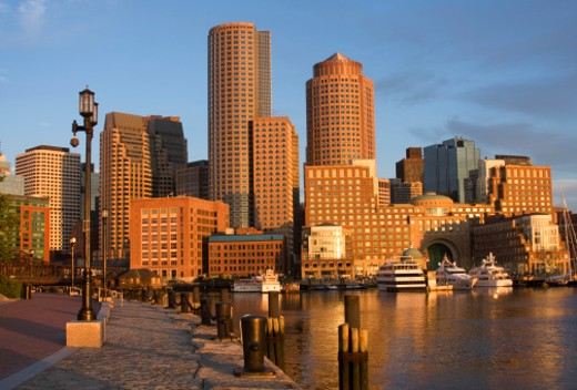 Boston, Massachusetts Waterfront : Stock Photo