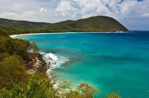 Stock Photo: 1598R-10003129 Deshaies beach Guadeloupe