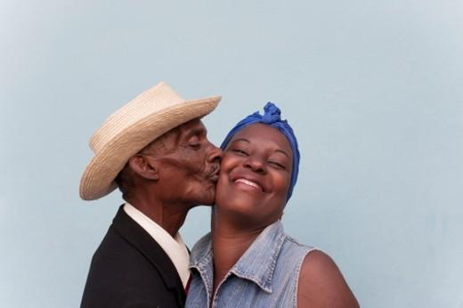 Stock Photo: 1598R-10003131 Cuban couple.