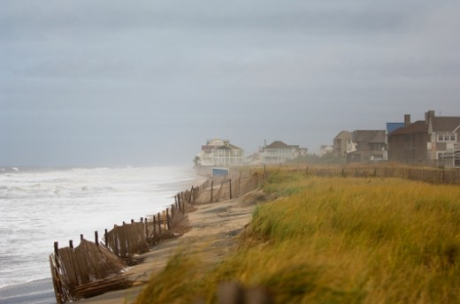 Rehobeth Beach during a North Eastern storm. : Stock Photo