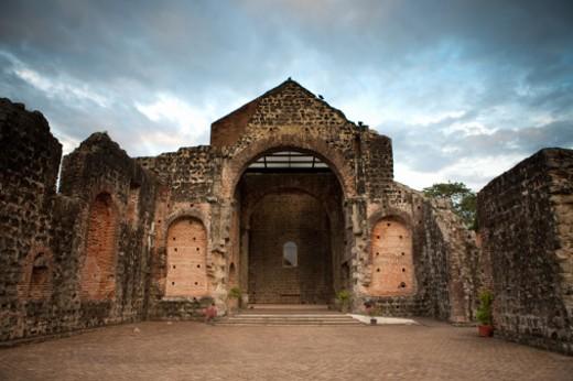 View of Convento de las Monjas de la Concepci?n in Panama Viejo, Panama City, Republic of Panama. : Stock Photo