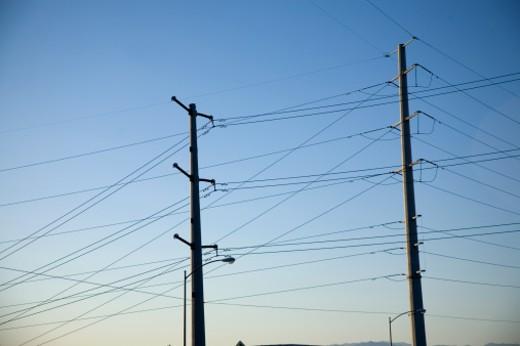 Stock Photo: 1598R-10005080 Powerline