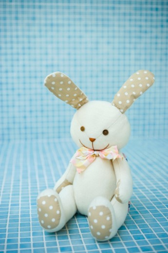 Stock Photo: 1598R-10005634 A rabbit of stuffed animal