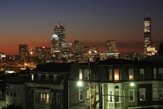 Dorchester Heights neighborhood of Boston : Stock Photo
