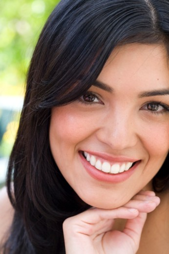 head-shots of beautiful Latin woman : Stock Photo