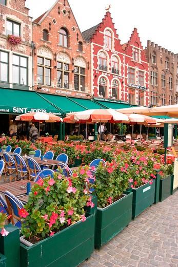 Stock Photo: 1598R-10010505 Belgium, Bruges, market square