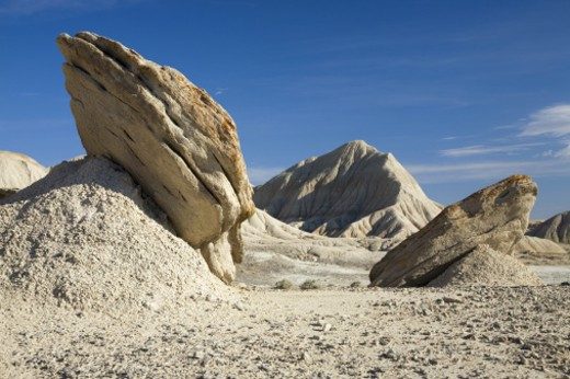 Stock Photo: 1598R-10010832 USA, Nebraska, Pine Ridge Escarpment, Rock formations in Toadstool Geologic Park