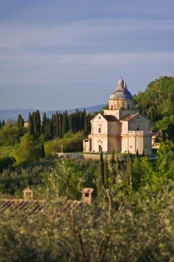 Italy, Tuscany, Montepulciano, Church of San Biagio : Stock Photo