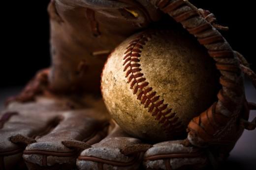 Baseball Glove and Ball : Stock Photo