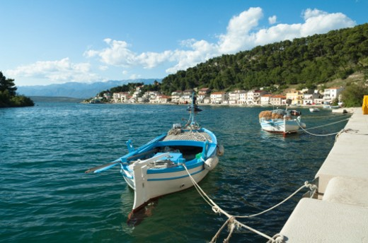 Stock Photo: 1598R-10013467 Harbour scene in the small town of  Novigrad in North Dalmatia, near Zadar