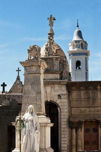 Stock Photo: 1598R-10013960 Argentina, Buenos Aires, Recoleta Cemetery