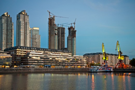 Stock Photo: 1598R-10013964 Argentina, Buenos Aires, Apartments, Puerto Madero