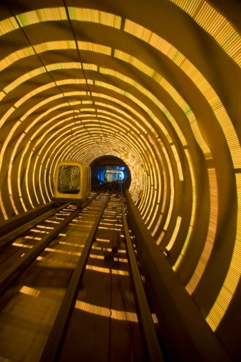 Subway tunnel under the Huangpu River from the Bund to Pudong : Stock Photo