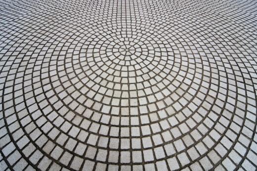 Mosaic pattern outside the Chiang Kai-Shek Memorial  : Stock Photo
