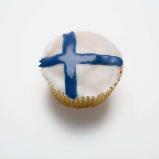 Stock Photo: 1598R-10018093 Finnish, fairy cake, icing