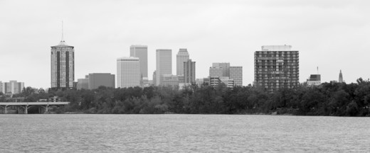 Stock Photo: 1598R-10018240 The Tulsa skyline from across the Arkansas River