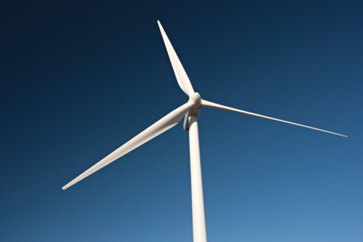 Stock Photo: 1598R-10019220 wind generators used for alternative energy