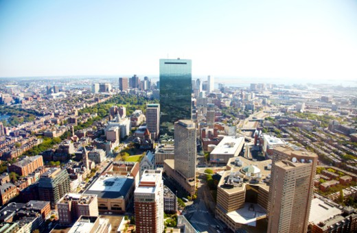 Aerial view of Boston : Stock Photo
