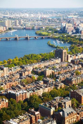 Aerial view of Boston : Stock Photo