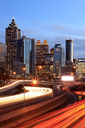 Atlanta, Georgia is both the state capital and largest city in Georgia : Stock Photo