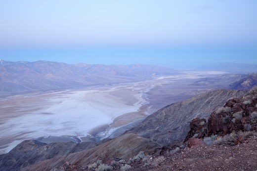 Vista from Dantes View at dawn, Death Valley National Park, USA : Stock Photo