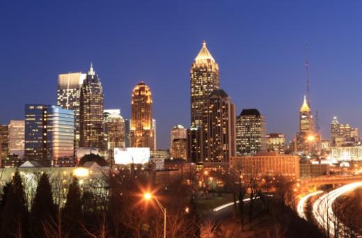Atlanta, Georgia skyline : Stock Photo