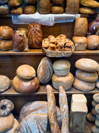 Stock Photo: 1598R-10027080 A baker shop (boulangerie) of Bruxelles