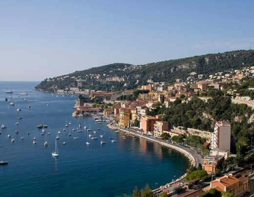 Villefranche-sur-Mer is a commune in the Alpes-Maritimes departmentin the Provence-Alpes-Côte d'Azur region on the French Riviera. : Stock Photo