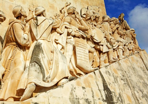 Detail of the 'Discoverers monument' at Belem  : Stock Photo