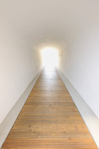 Light at the end of corridor. : Stock Photo