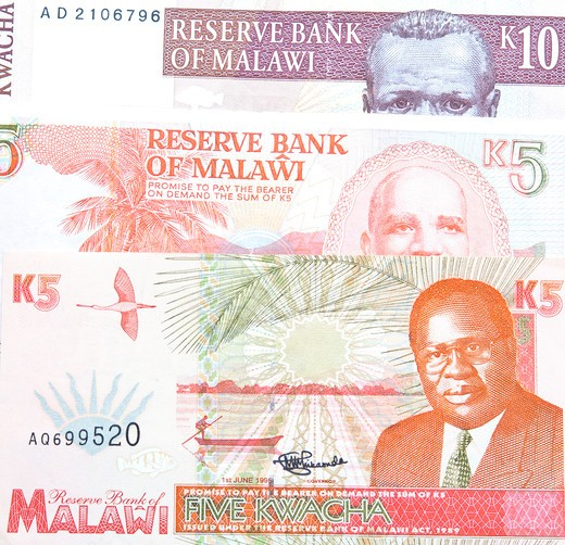 Detail shots of money from Malawi : Stock Photo