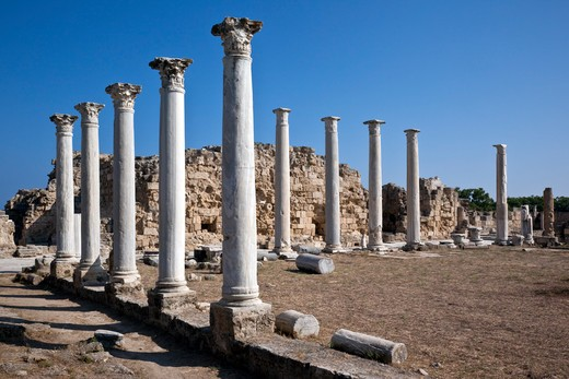 Stock Photo: 1598R-10032391 Salamis was built by the Romans, it later became Byzantine Constantia and was destroyed by the Arabs in 648AD.