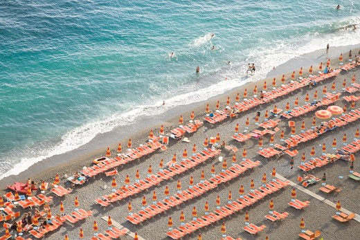 Beachfront in Positano, on the Golfo di Salerno. : Stock Photo