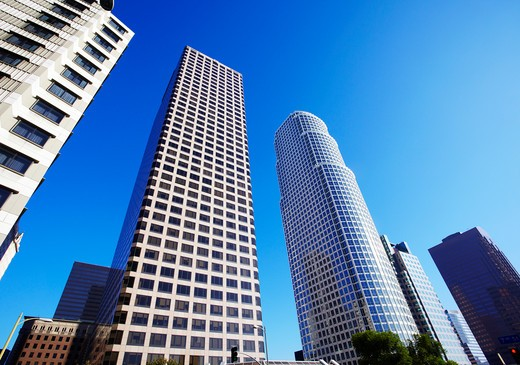 Skyscrapers in Downtown Los Angeles. : Stock Photo