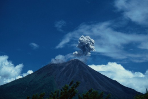 Smoke Above Arenal Volcano : Stock Photo