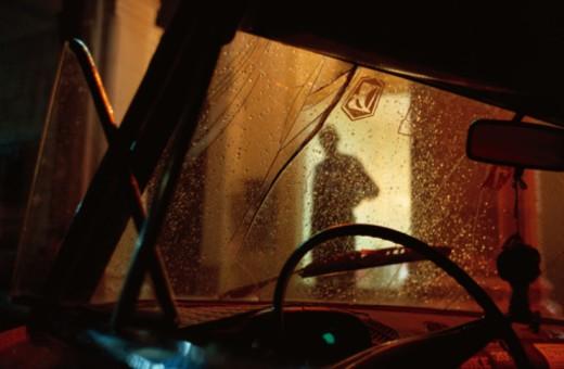 Automobile in Rain : Stock Photo