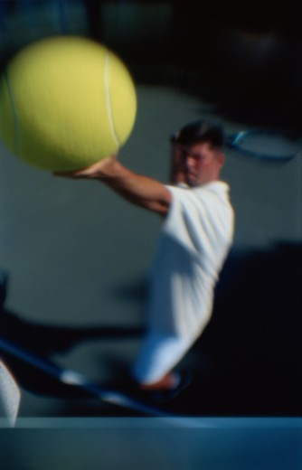 Stock Photo: 1598R-10037681 Tennis Player with Ball