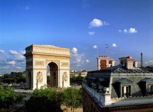 France,Paris,Arc de Triomphe : Stock Photo