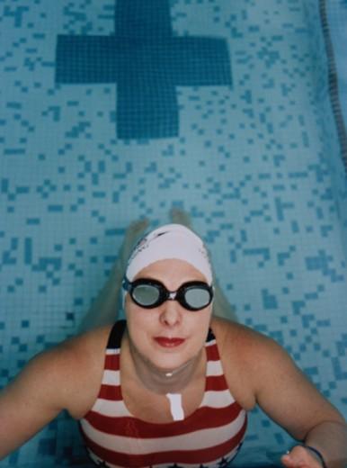 Stock Photo: 1598R-10041249 Woman in Swimming Pool