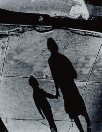 Shadows of People on Sidewalk : Stock Photo